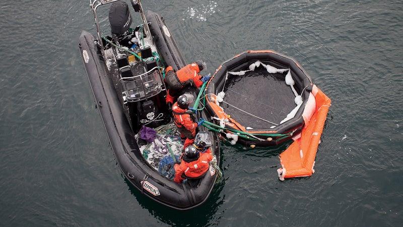 The Berserk's life raft was found 65 miles off Antarctica.
