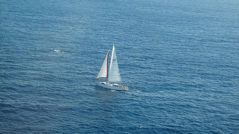 The Nilaya off the coast of New Zealand.