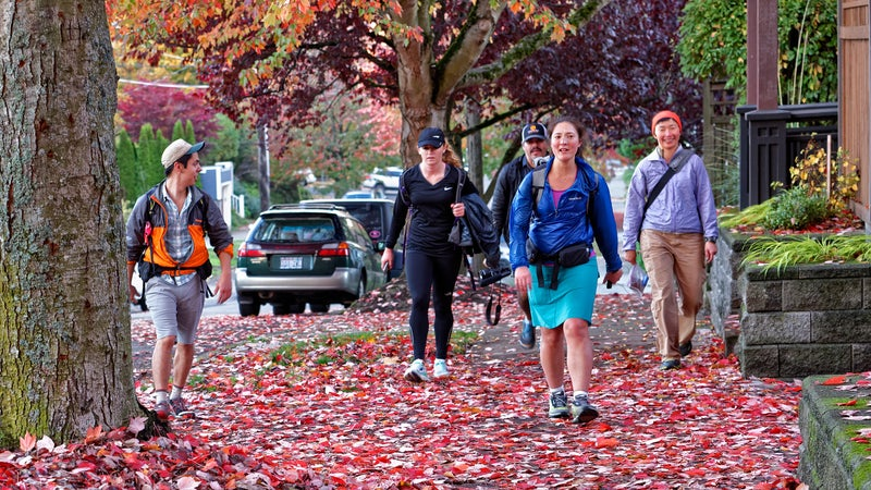 Thomas' high profile in long-distance hiking circles has attracted an entourage in Seattle.