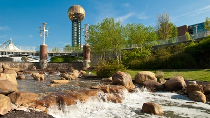 The Sunsphere in World's Fair Park, site of 1982 World's Fair, Knoxville, Tennessee.