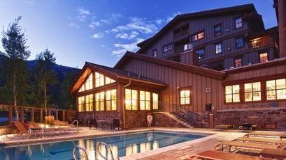The lap pool at the Teton Mountain Lodge and Spa