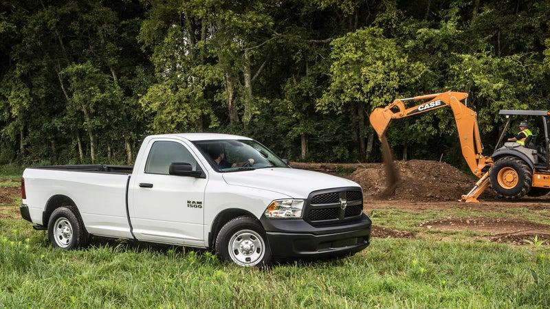 Work-spec pickups like this Ram 1500 Tradesman start around $26,000.