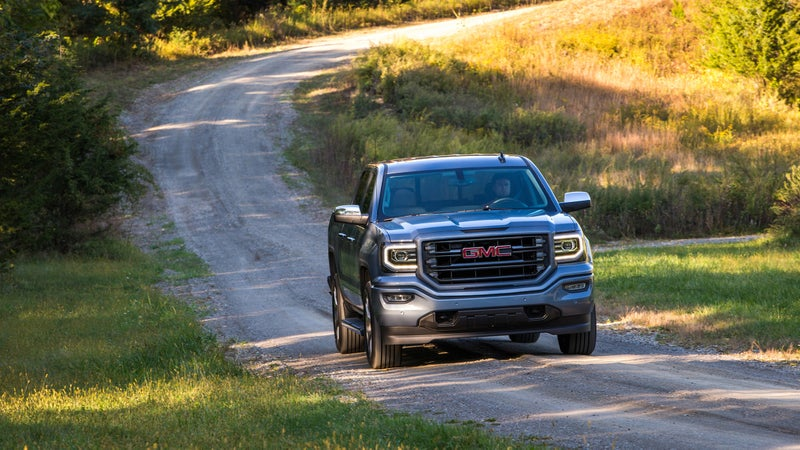 Luxury pickups like this GMC Sierra 1500 are nicer places to spend time than expensive luxury cars, while still towing, hauling, and getting down dirt roads as well as their poverty-spec stablemates.