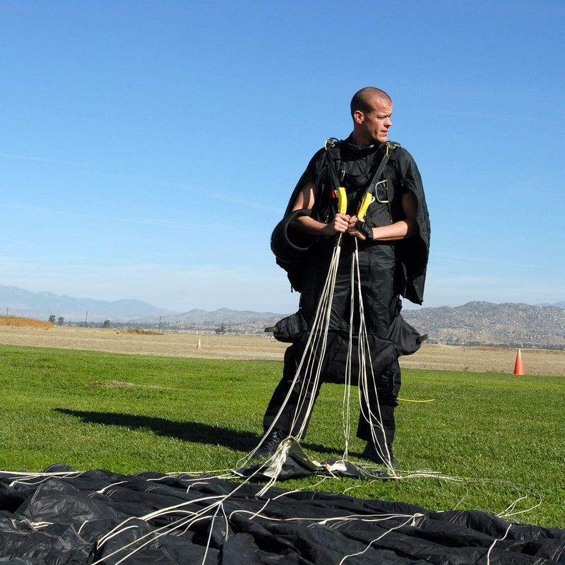 Wingsuit flier Jeb Corliss.