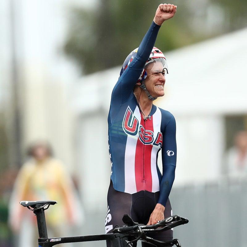 Cyclist Kristin Armstrong.