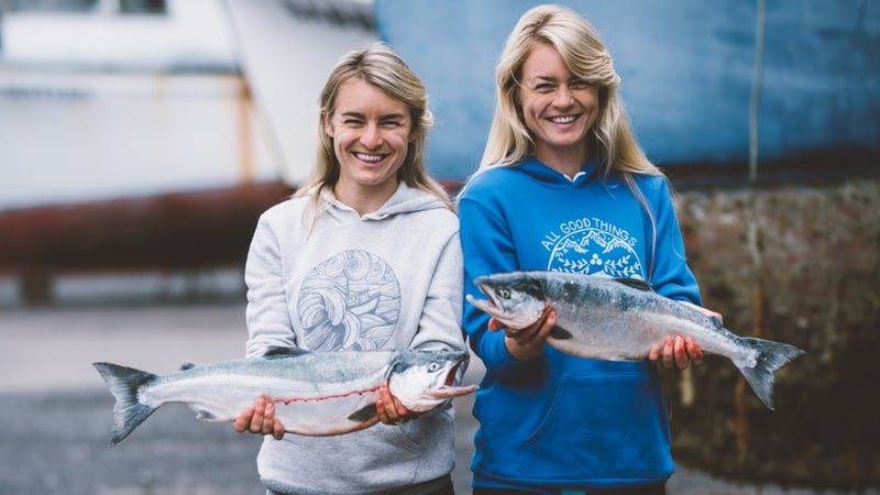 These sisters couldn't resist the call of the sea.