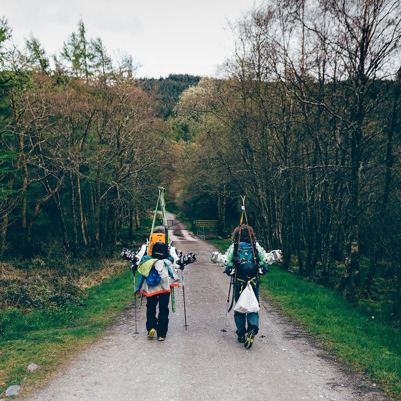 Graham and Finbar on the move.