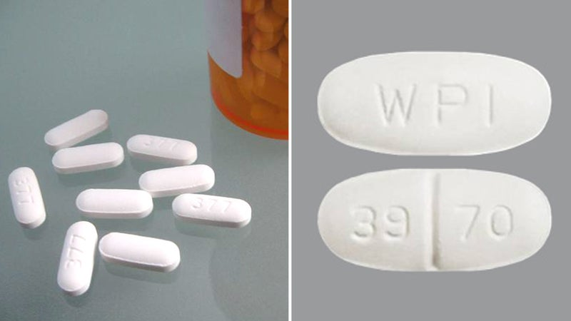 The banned drug tramadol (left) could have been confused with the antibiotic metronidazole (right).