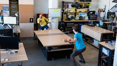 Yes, there is a ping pong table.