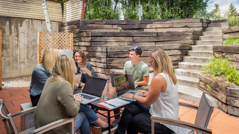 Forum Phi employees take advantage of their Aspen, Colorado location for outdoor activities.