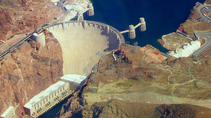The Hoover Dam, which tamed the Colorado River in 1935, fueled the development of Los Angeles, Las Vegas, and Phoenix.