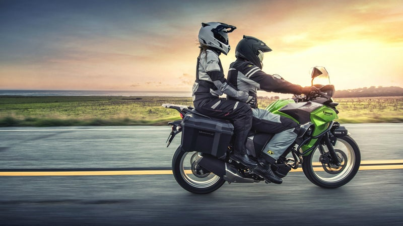 The Versys-X 300 carries a passenger better than any other beginner bike.