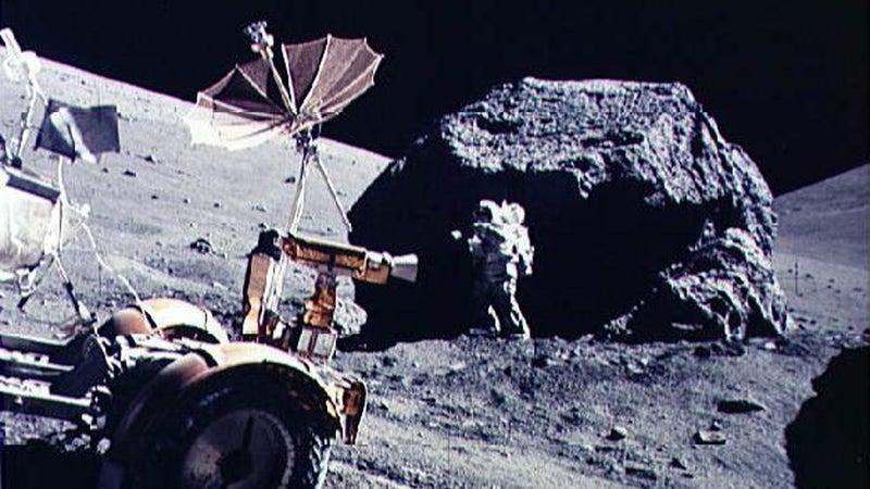 Harrison Schmitt on the moon during the Apollo 17 mission.