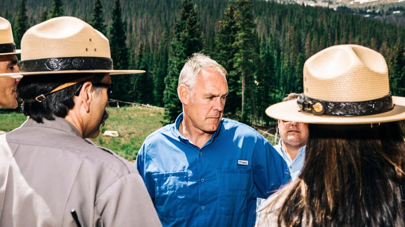 Zinke at Rocky Mountain National Park in Colorado.