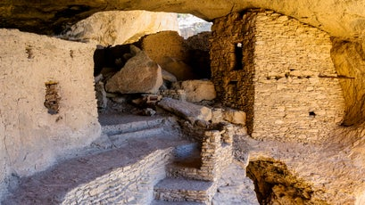 Ruins of Gila cliff dwellings