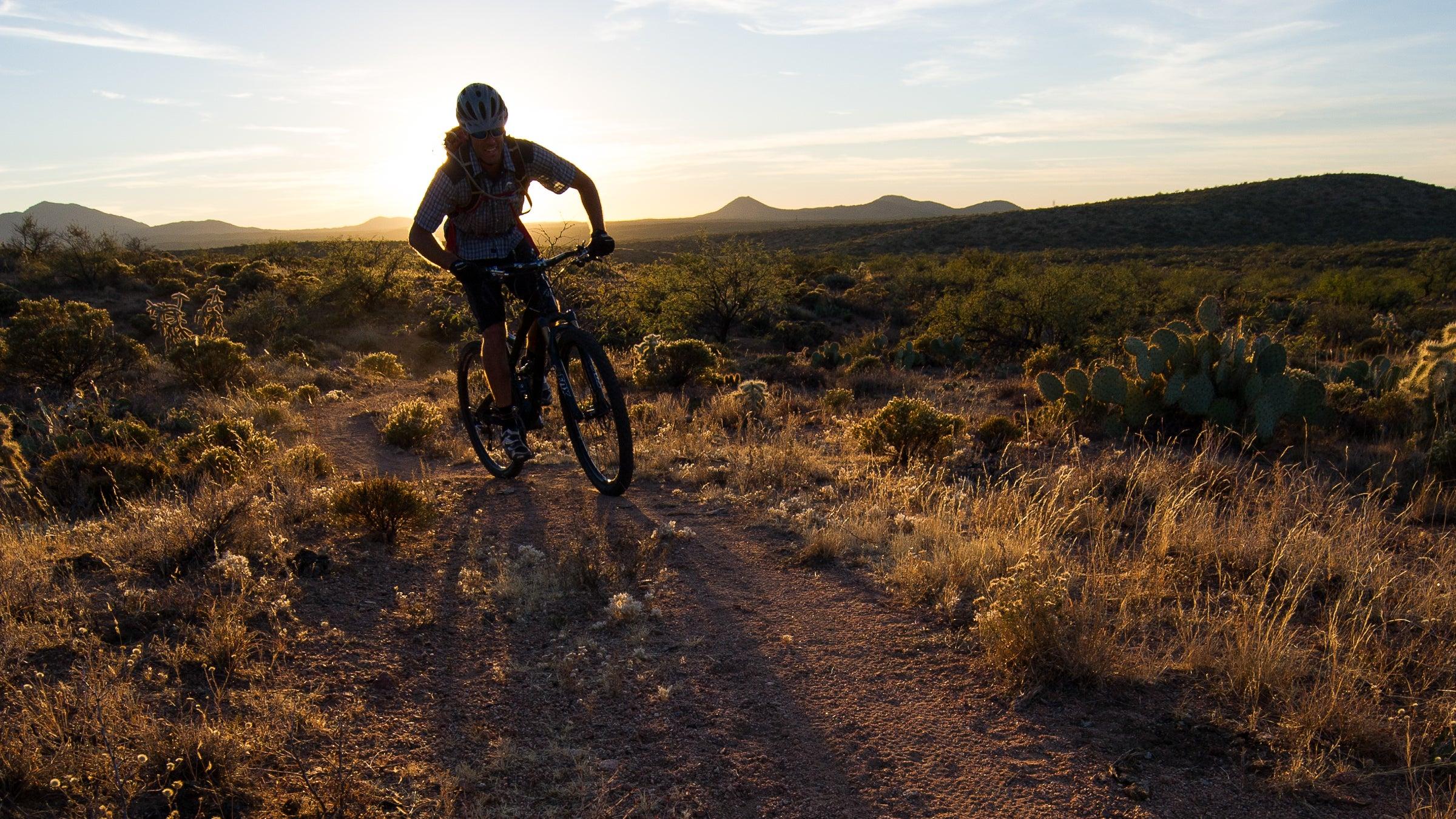 Mountain biking from the Kelvin Bridge to Superior on the Arizona Trail.