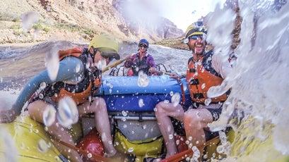 Getting into it in Cataract Canyon, Utah