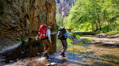 Exploring the west fork of the Gila River.