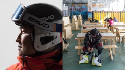 Ski racer Rex Wang of Liuji Ski Club at Wanlong ski resort; Chang Cheng Ling Ski Resort, more affordable skiing for local skiers
