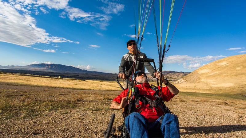 Practicing glider control