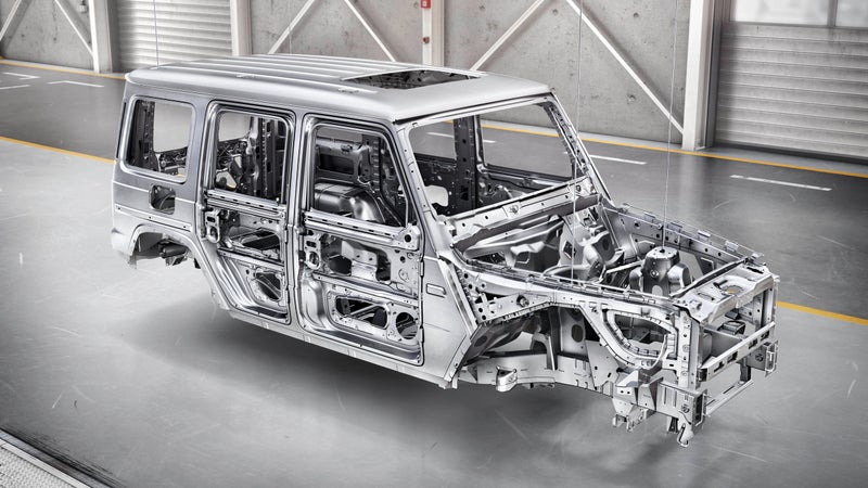 The new body-on-frame construction utilizes lighter, stronger steel and replaces some body panels with aluminum. Less weight is always better, and this change is the best thing about the new G-Class.