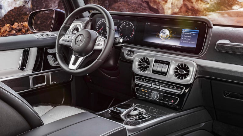 The interior has been vastly improved and borrows heavily from the firm's range-topping S-Class sedan. The passenger grab handle—a G-Wagen icon—has been retained.