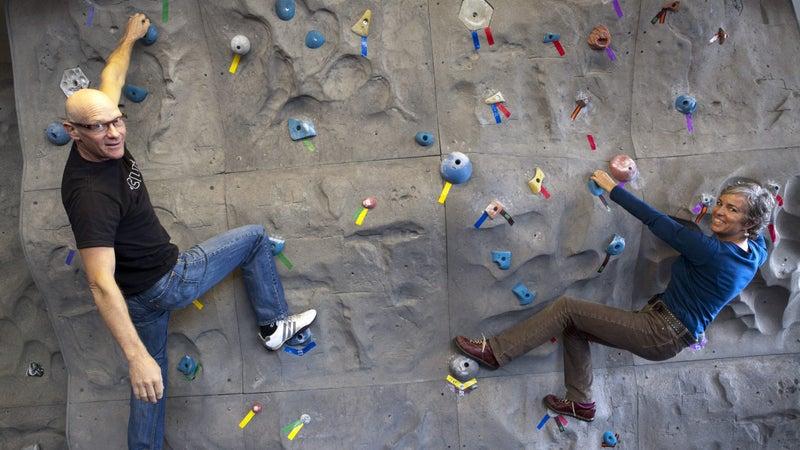 Gary and Kit, Climbing Wall