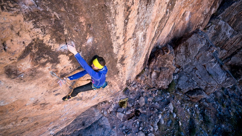 Paige Claassen sent Necessary Evil the day after Michaela Kiersch became the first woman to succesfully tackle the route.