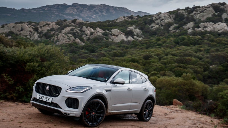 The E-Pace is actually really good on dirt roads and in slippery weather. Thank the Land Rover platform and its uniquely capable AWD system for that.