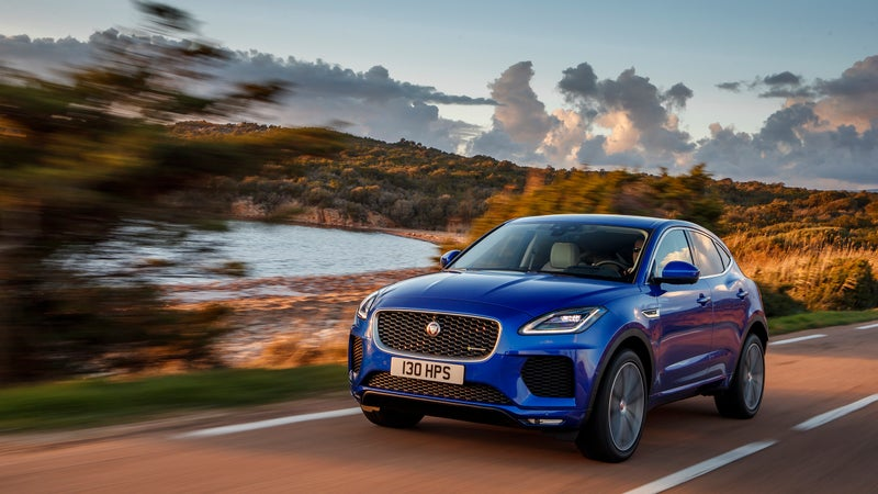 With mellower handling, the E-Pace is free to provide a comfortable ride. That makes it a great place in which to kill some highway miles.