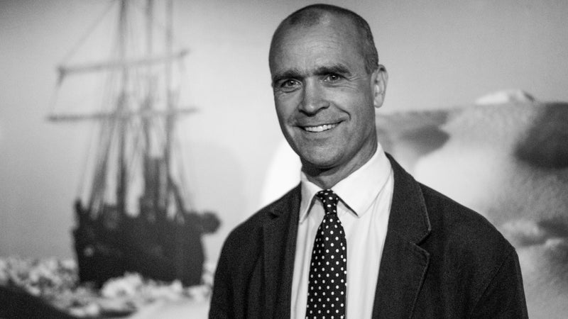 """Worsley in 2010 at the opening of the Merseyside Maritime Museum's exhibition """"Endurance: Shackleton's Antarctic Adventure."""""""