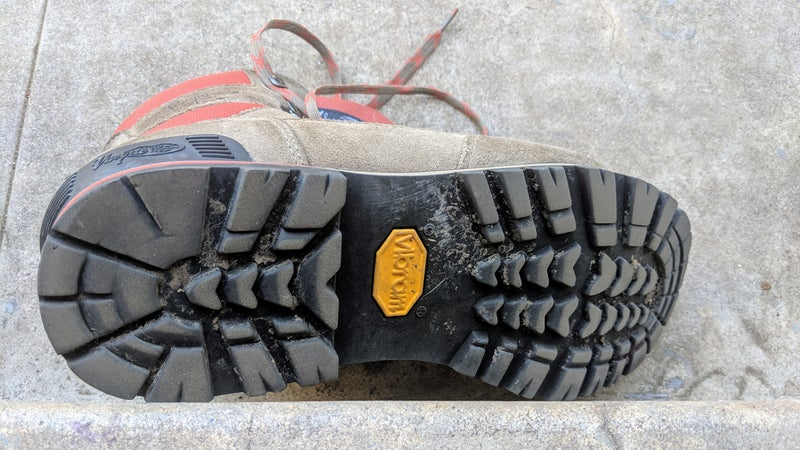 The Vibram sole is surprising to see at this price point. It's tractive, and flexes in all the right places, while still providing enough stiffness for excellent stability.