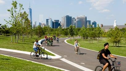 Biking on Governors Island, New York