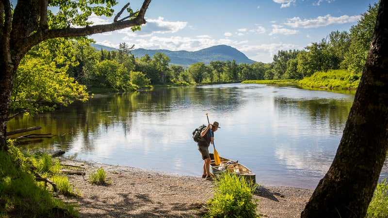 Canoeing in Katahdin Woods and Waters