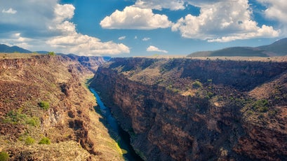 Rio Grande River and gorge near Taos, New Mexico