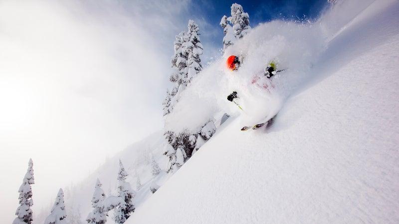 Roberts skiing at Crystal Mountain ski area, Washington