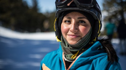 A 15-year-old participant who has been skiing with the Doug Coombs Foundation for three years.