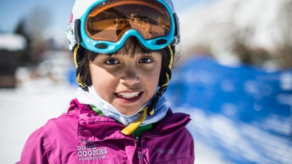 A 10-year-old participant who has been skiing with the Doug Coombs Foundation for five years.