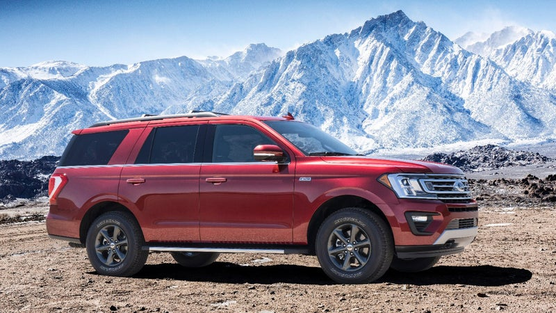 The FX4 package brings all-terrain tires, stiffer shocks, and an array of skidplates to the Expedition.