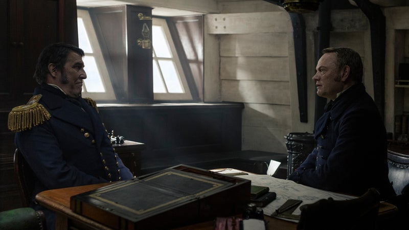 Ciarán Hinds as Sir John Franklin and Jared Harris as Captain Francis Crozier in AMC's 'The Terror.'