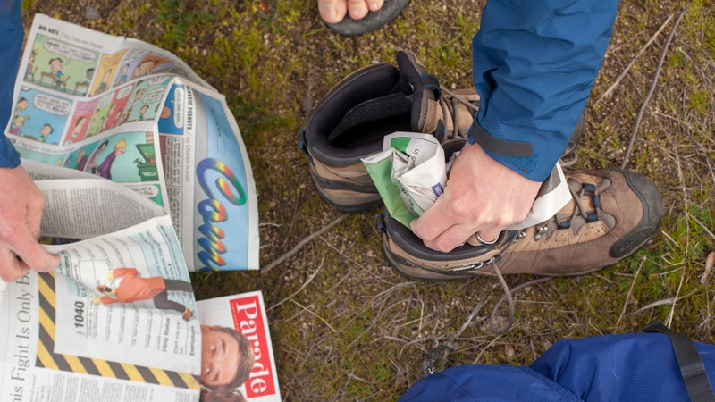 Experienced thru-hikers may already know this newspaper trick.