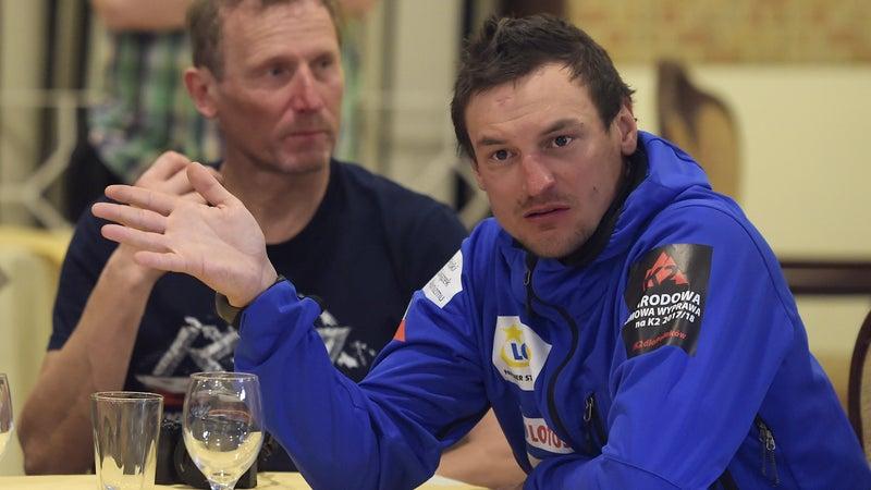 Adam Bielecki in March 2018 after attempting to summit K2.
