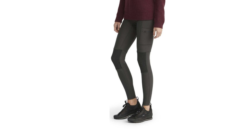 Still hiking in yoga pants? Fjällräven has finally solved the need for a good-looking yet rugged option for women with its trekking tights. They're made from an equally comfortable and stretchy fabric that's more durable, keeps the weather off, and is reinforced on the butt and knees. They even have pockets!