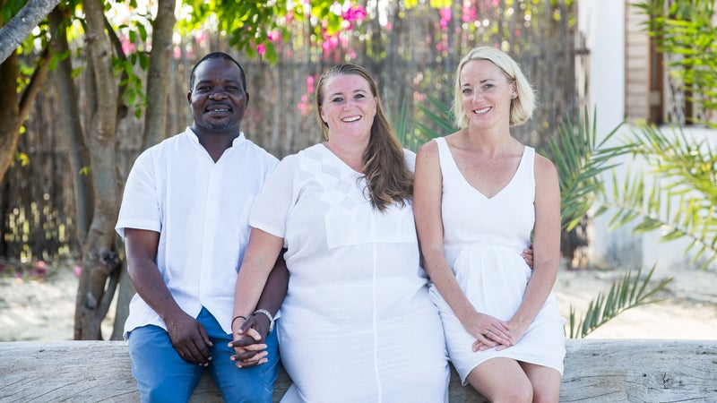 Wazi Shoes co-founders (from left): Abdul Majid, Alice Christensen Majid, and Heather Christensen Smith.