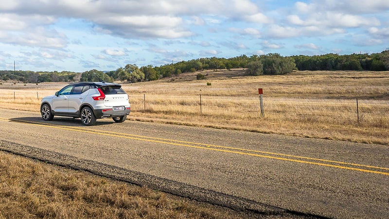 Road trip? The XC40 would make it as relaxing, and easy as possible, with plenty of room for four and their luggage.
