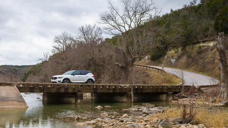 The XC40 is competent on a winding road, but it's on city streets where it really excels.