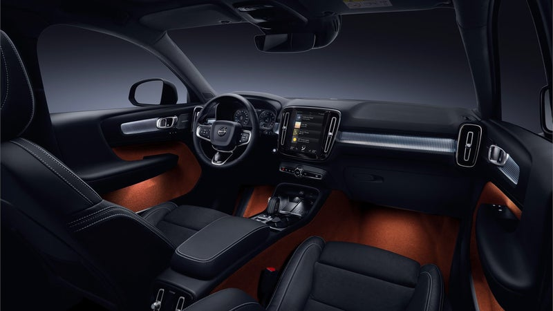 It's hard to capture just how spacious, and clever the Volvo's interior is. The $600 subscription includes options like the full-length glass moonroof, and the big touchscreen.