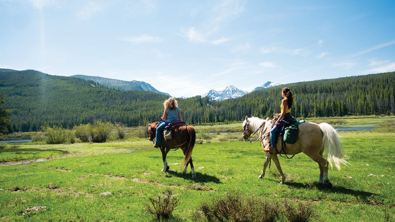Big Hole Lodge offers guided horseback trips to high lakes.