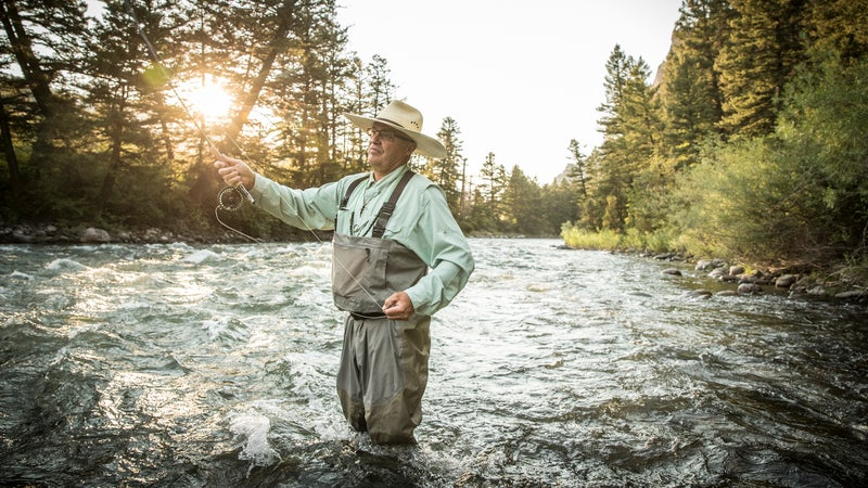 Fly-fishing the Gallatin River, a tributary of the Missouri River.