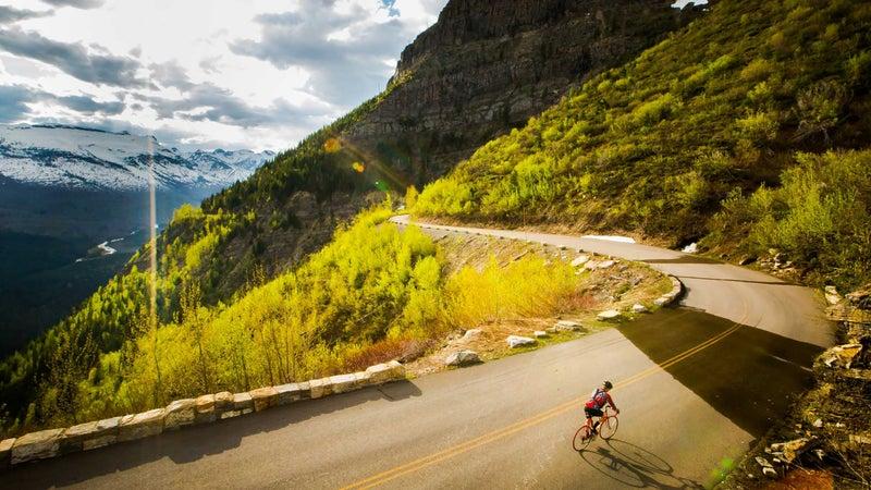 Biking the Going-to-the-Sun Road.